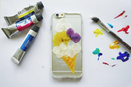 Pressed Flowers Phone Cases - Sweet Flower Cone Collection for iphone 5/5s/SE/6/6s/6 plus/6s plus/7/7plus/Samsung S4/S5/S6/S6Edge/S7/S7Edge/Note3/Note4/Note5