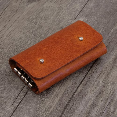 Handmade vegetable tanned leather key cases