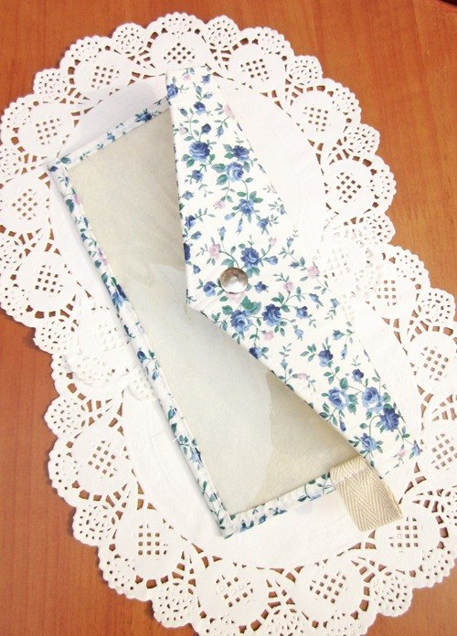 My Daydream Workshop Tian Yuanqing new small floral transparent thin body purse wallet