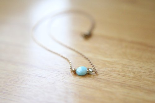 < ☞ HAND IN HAND ☜ > amazonite - origin Necklace (0313)