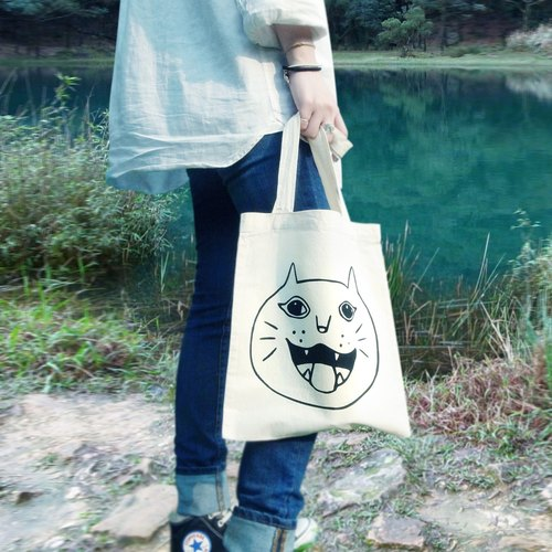 Big cat smiley cat bag ︱