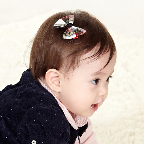 hajour plaid bow hairpin hairpin + Dandelion (buy one get one)