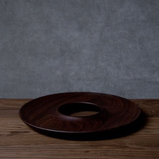 Takahashi craft walnut dessert dish KAKUDO Bagel Plate Walnut