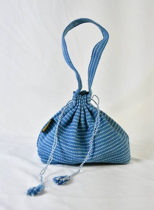 Vegetable dyes beam port hand-woven bags _ blue _ fair trade