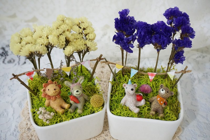 Star Animal Healing Forest dried pot*exchange gifts*Valentine's Day*wedding*birthday gift