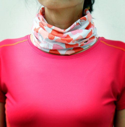 *cycling road race necessary*[COOLMAX sports scarf] balloon pink sky