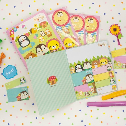 Squly & Friends Sticky Memo Pad (Forest Theme) (D001SQS)