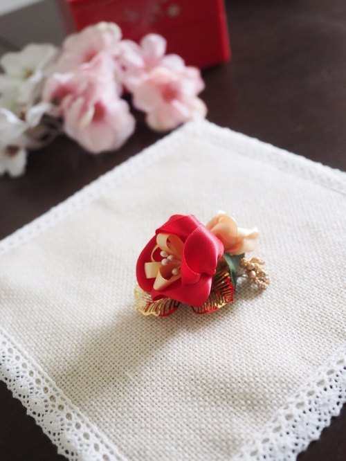 Handmade Ribbon flower Hair Accessory