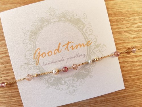 [Woman. Time] irregular fine chain, multi-class gem supple strawberry crystal