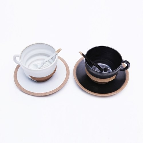 Creative handmade black and white coffee cup set of modern minimalist design constraints 350ml Jingdezhen