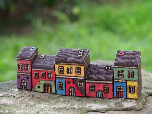[Painting village Colorful Village] - hand-painted fairy house five co Thao no longer make available sold out
