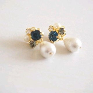 Cotton Pearl Bijou Earrings (Montana)