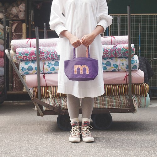 AlphaBAG Lunch customize letter hand craft canvas tote bag