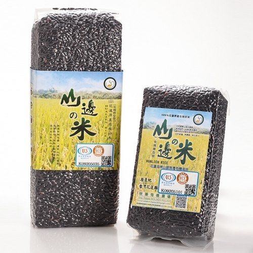Hillside rice - brown rice 300g purple - Hualien Happy Organic Farm