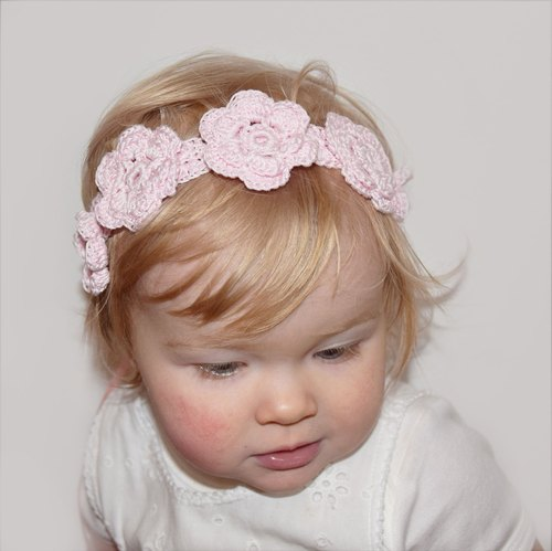 Pink Baby Girl Headband - Cherry Blossom Flower Crown for Baby Girls and Toddlers - Flower Girl Headband or Belt - Baby Photo Prop