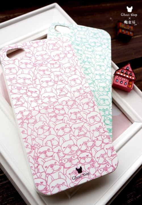 (Sold out) iPhone5 / 5s phone shell - Jigsaw hopper (powder)