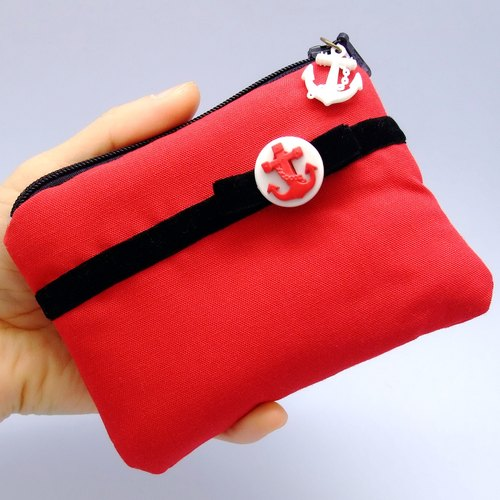 Zipper pouch / coin purse (padded) (ZS-12)