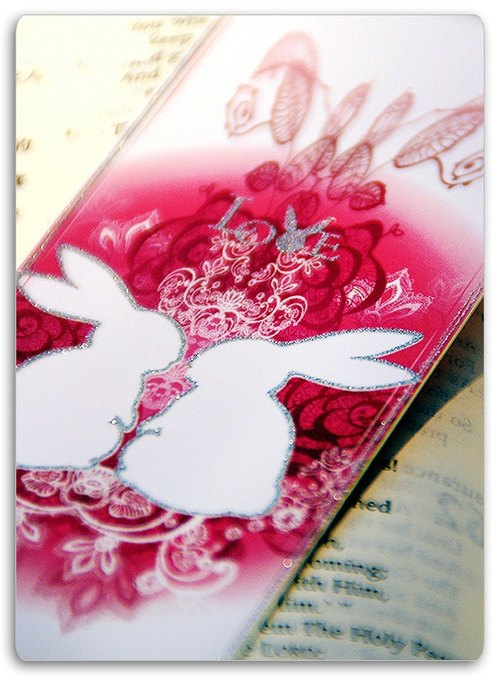 Lace Bunny bookmark (a group)