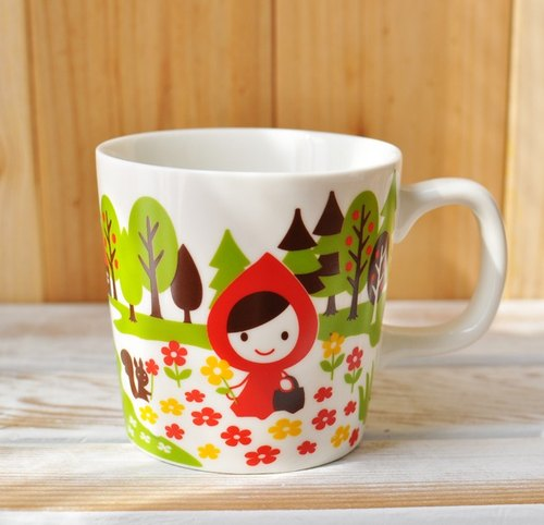 [Decole] Otogicco series Little Red Riding Hood Big Bad Wolf flowers mug / coffee cup