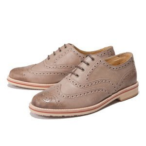 O'Ringo whole fruit yield │ │ carved Oxford handmade stone gray rubber-soled shoes
