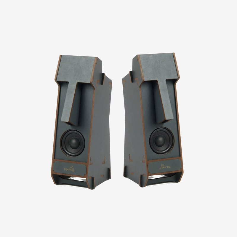 Stereo Puzzle - Stereo Moai Speakers (Color: Gray)