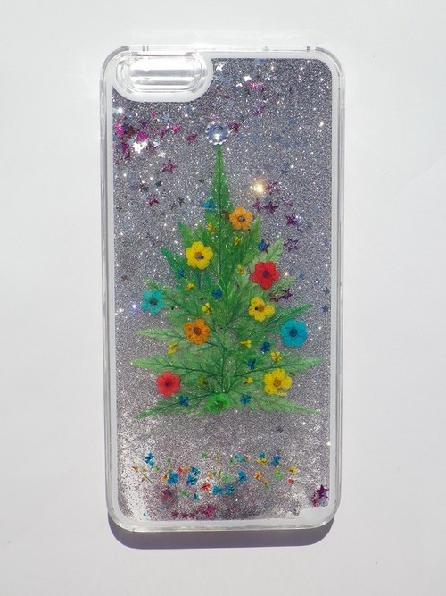 Anny's workshop hand-made Yahua phone protective shell for iphone 6 plus, Christmas tree