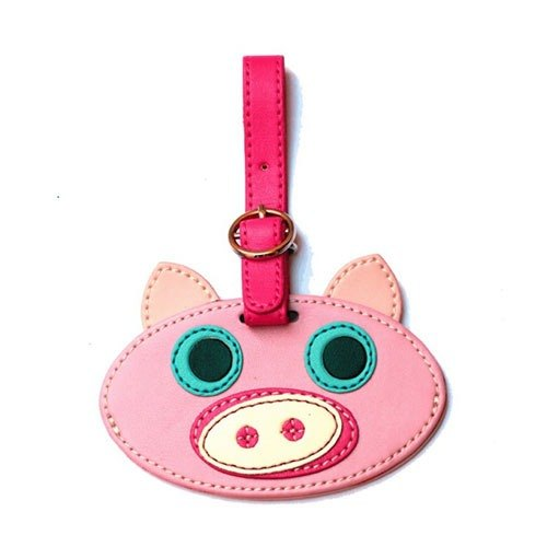 Organized Travel- cute animal shaped luggage tag / ID tag / key ring (pig)
