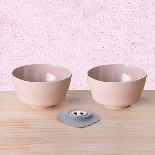Miniware | natural baby bowl - bamboo fiber children learn tableware - bowl of cereal into three groups - salmon bagel
