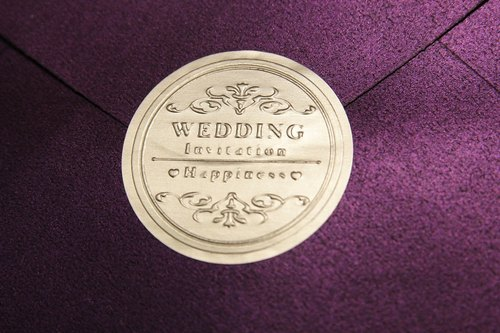 【Gold / silver foil sticker】 囍 @ (wedding invitation seal / decorative stickers / round stickers / product stickers)
