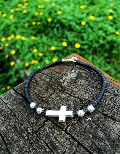 925 sterling silver bracelets lucky bracelet wax rope bracelet simple line crosses the neutral black models