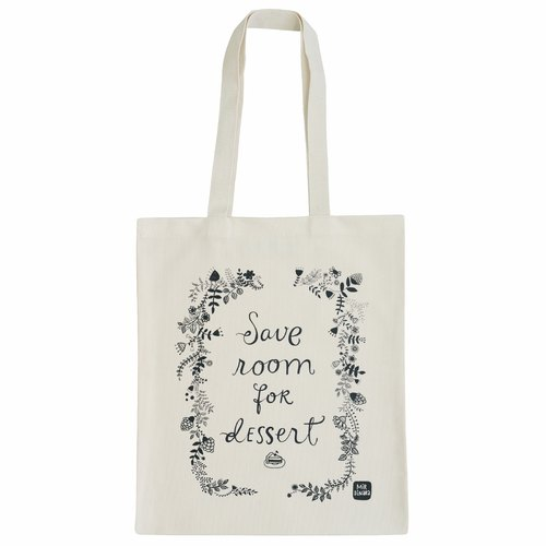 Letter Alphabet Bags Tote - Designer Series [Save Room for Dessert (Production UK / free shipping)