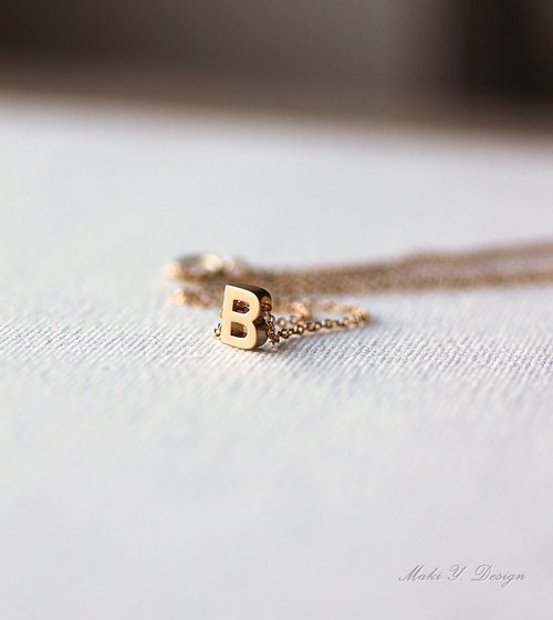 Mini Gold OR Silver Letter Necklace- Initial Necklace,Alphabet Necklace
