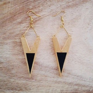 Wooden Earrings No.36
