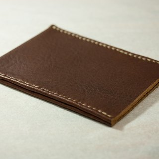 Thinning brown leather inner edge off of 摓 Contacts / Youyou card holder