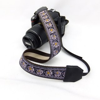 Camera strap can print personalized custom leather stitching national wind embroidery pattern 013