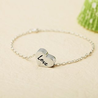Custom Bracelet Cute Plate - Small Love Name English Text Bracelet 925 Silver Bracelet - ART64