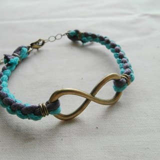 ~ M + Bear ~ Love Unlimited Love Unlimited, 8 wax rope braided bracelet (bronze violet)