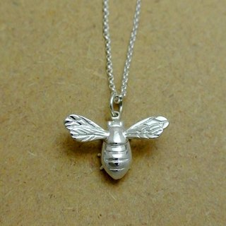 Big Bee Silver Necklace