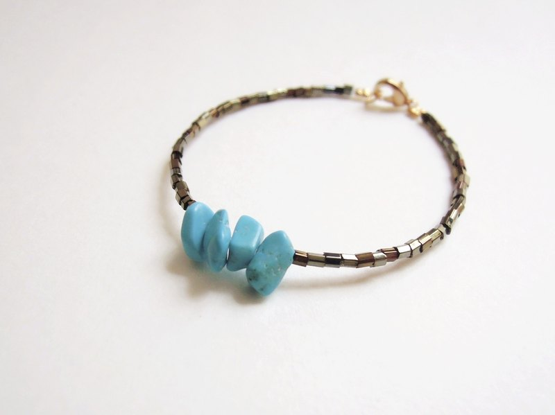"""KeepitPetite"" National Wind Turkish blue turquoise bracelet ·"
