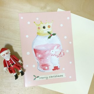 zoe's forest rabbits magic bottle PinkoiXmas print Christmas cards for Christmas