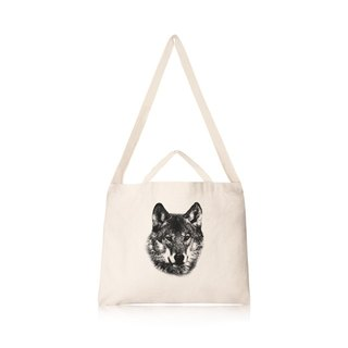 Wolf Cultural & Creative wind horizontal canvas bag