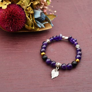 Purple drunk | amethyst black onyx | natural stone bracelet