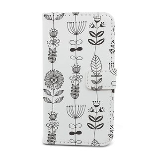 Gray flowers models feature phone holster (A68) - iPhone 4, iPhone 5, iPhone 6, iPhone 6, Samsung Note 4, LG G3, Moto X2