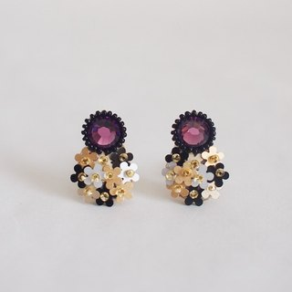 "Stud earrings""bijoux & bouquet""amethyst"