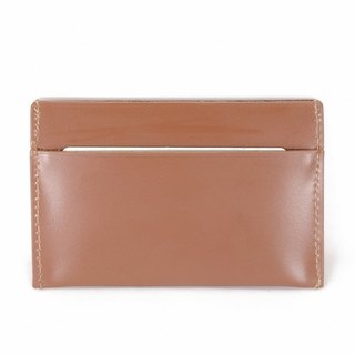 Simple vegetable tanned cow pickup folder brown business card holder