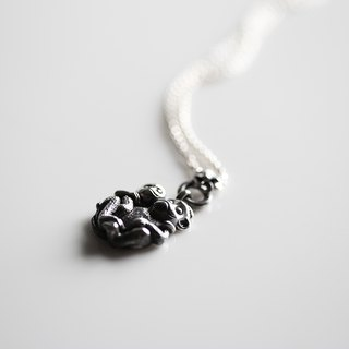 NEROSILVER Mexican silver - Fenghua series greet lucky generation to generation [Monkey] 925 sterling silver jewelry necklace Chinese wind / handmade silver