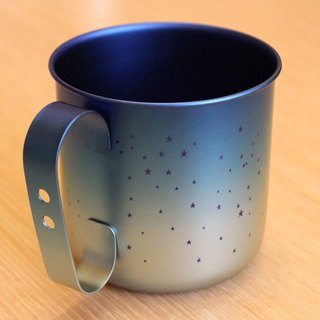 Titanium Love Earth Series - Made in Japan Pure Titanium ECO Design Mug - Frost Blue