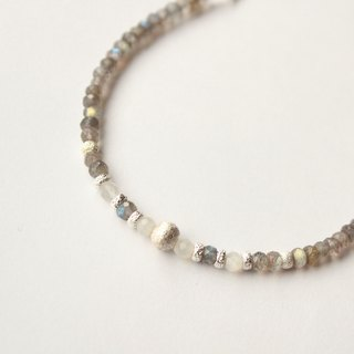 Journal (melody) gray areas / handmade sterling silver bracelet bracelet labradorite