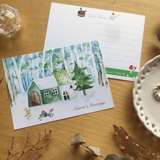 Zoe's forest Christmas Cottage Postcard (cs47) PinkoiXmas Christmas Gift