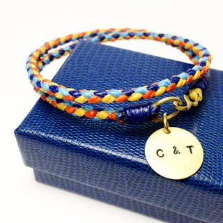 Play in summer. Wax rope brass bracelet. Wax Line X Brass X Customized X Plate